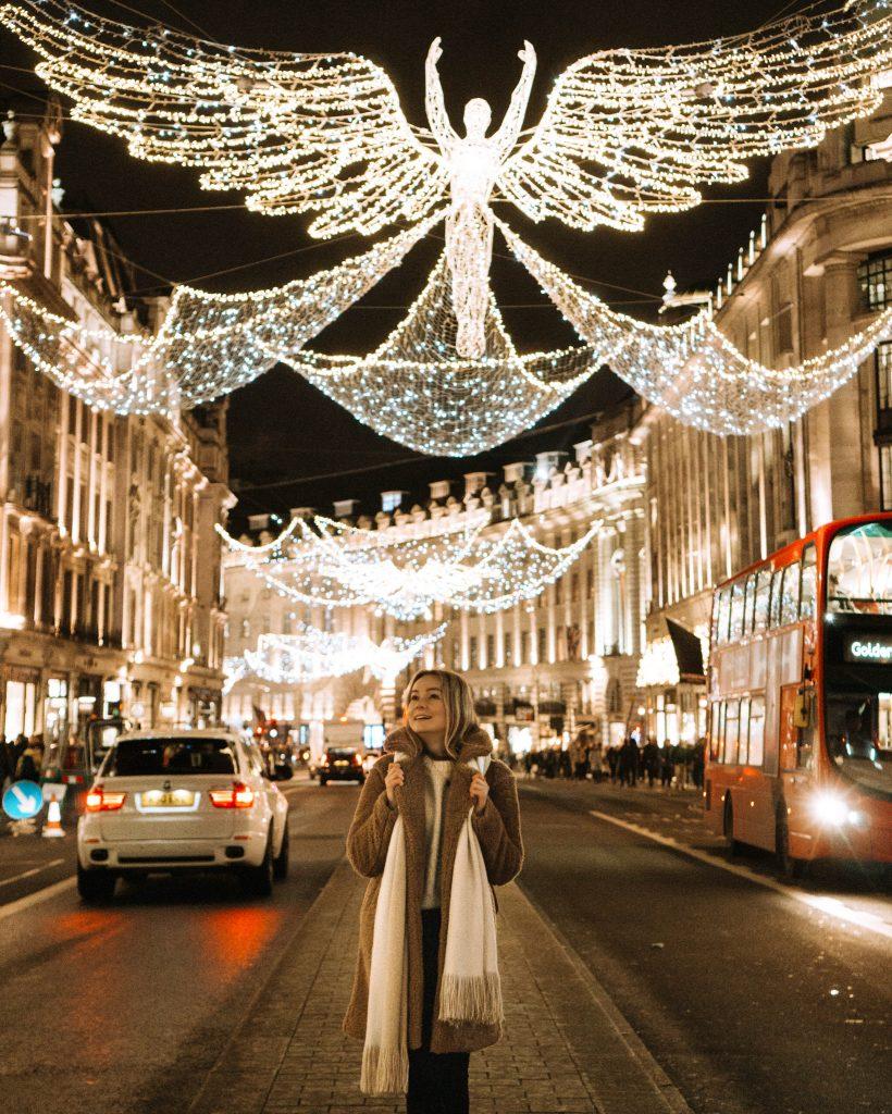 Christmas lights on Regent Street in London