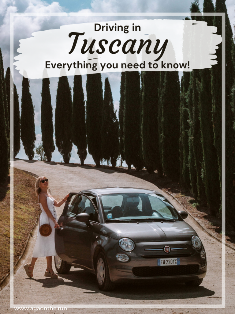 Driving in Tuscany for Pinterest