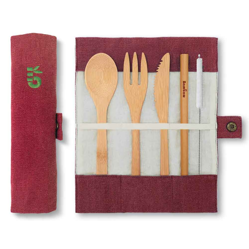 Eco friendly gift ideas for travellers - bamboo cutlery