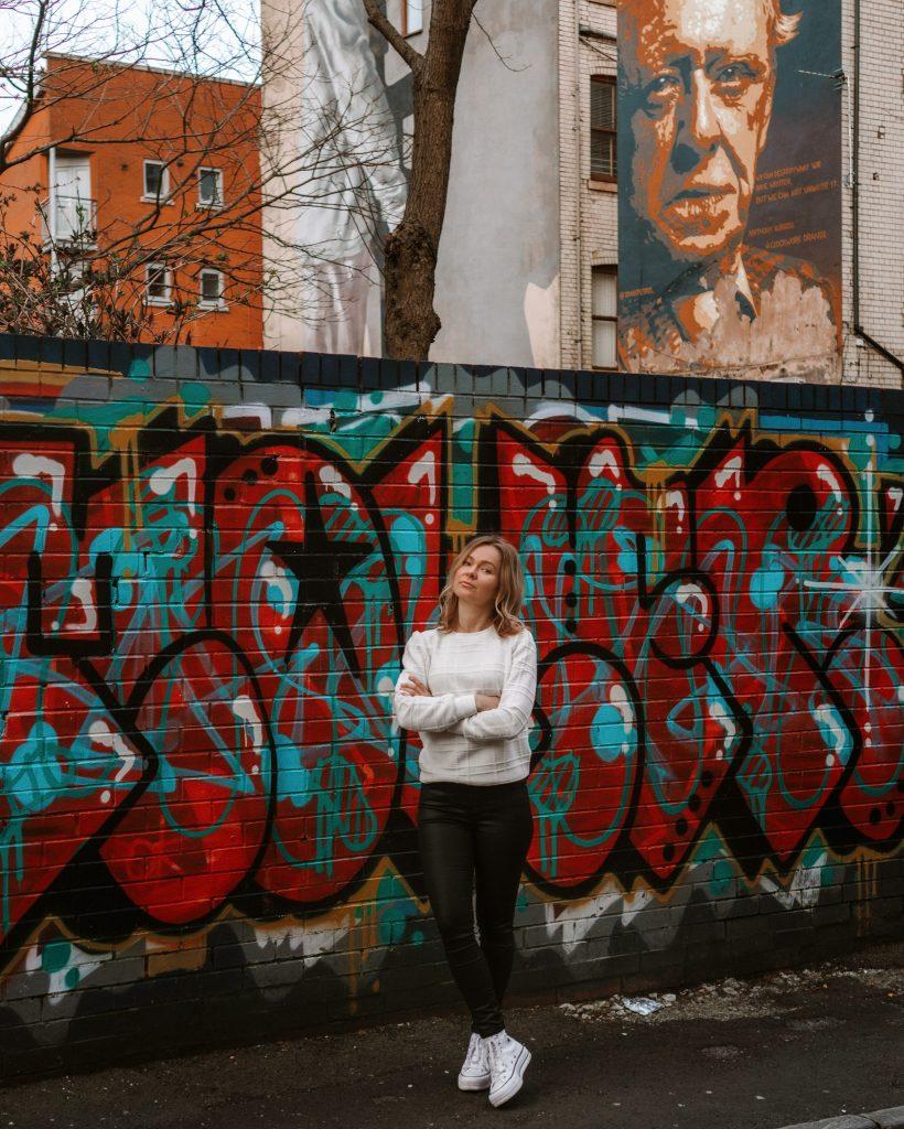 Graffiti street in Manchester, UK